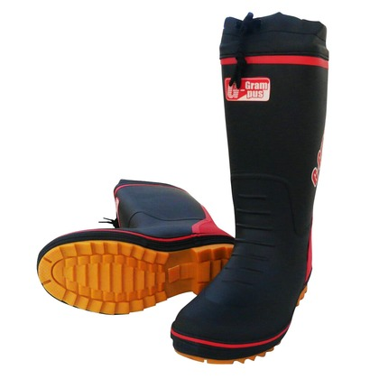 【送料無料】喜多 防寒長靴(裏ウレタン) カバー付 カラーブーツタイプ ブラック LL KR780U