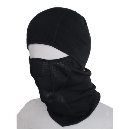 喜多 防風フェイスマスク(裏起毛) バラクラバ ヘルメット対応 ブラック フリー No3400