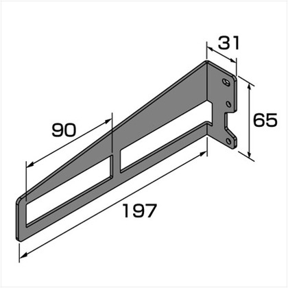 DIY-ID 1X4用棚受 2枚用 黒亜鉛色 ID-001 棚受・ブラケット ワンーバイホー 1X4