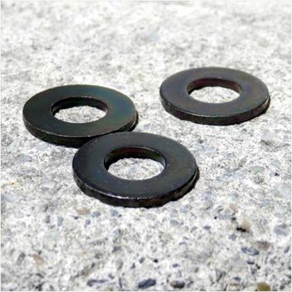 丸座金 黒亜鉛色 8X18X1.6 ID-305 4 個