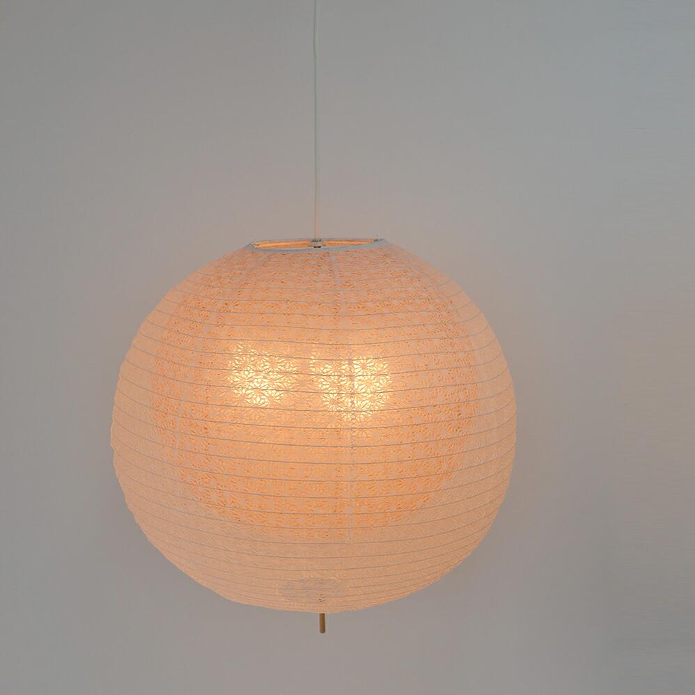 日本製和紙照明 和風照明3灯ペンダントライト 二重提灯 bud 電球別売