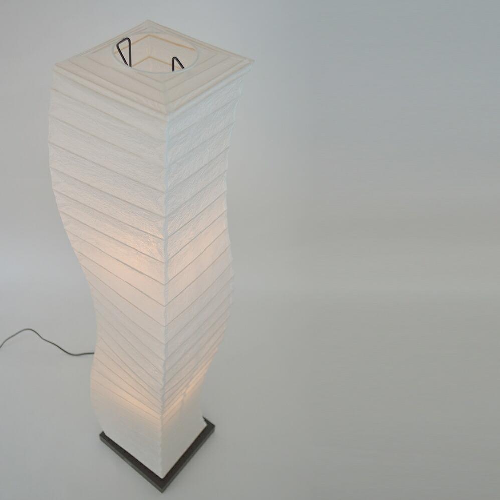 日本製和紙照明 和風照明フロアランプ warp