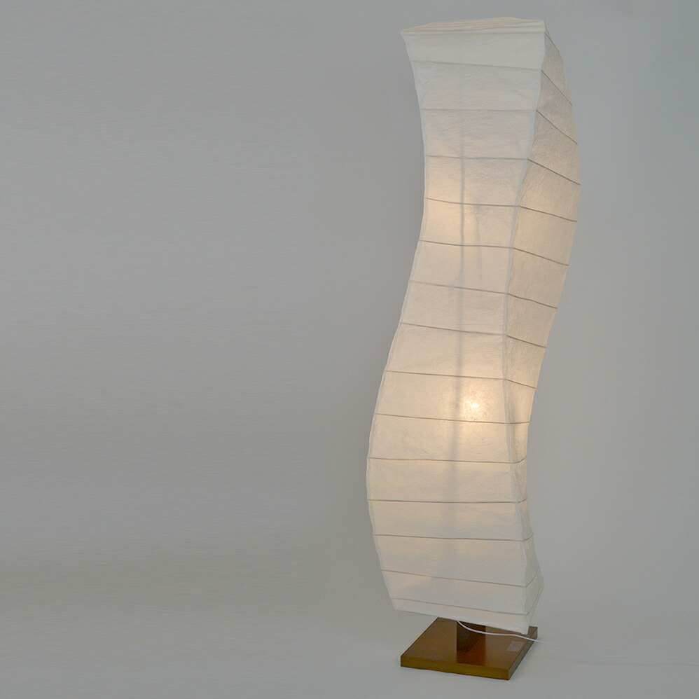 日本製和紙照明 大型和風照明 フロアスタンド flow