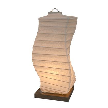 【送料無料】彩光デザイン 日本製和紙照明 和風照明テーブルランプ 揉み紙 W120mm×D120mm×H270mm B-28