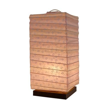 【送料無料】彩光デザイン 日本製和紙照明 和風照明テーブルランプ 桜玉ピンク W120mm×D120mm×H270mm B-27