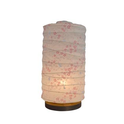 【送料無料】彩光デザイン 日本製和紙照明 和風照明テーブルランプ 花うさぎピンク Φ140mm×H275mm B-33 0