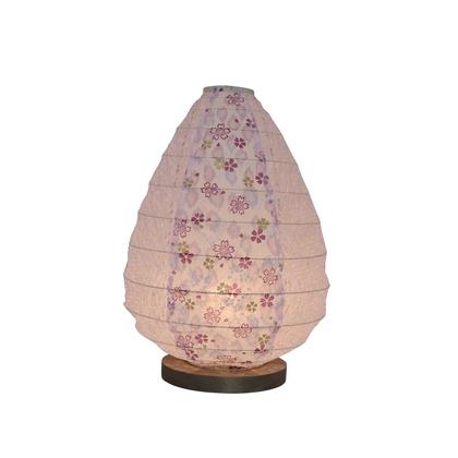 【送料無料】彩光デザイン 日本製和紙照明 和風照明テーブルランプ 灯花パープル×小梅パープル Φ195mm×H275mm B-17 0
