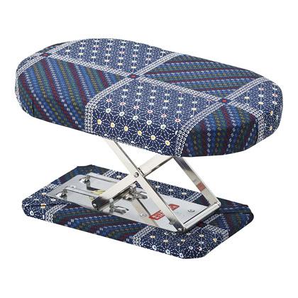 住友産業 正座椅子 折りたたみ式 刺子 幅16×奥行25×高さ12~14.5cm  N-1