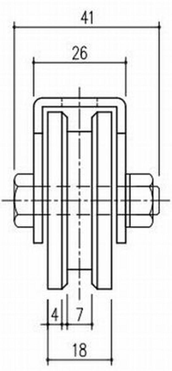 エース SUS 重量戸車 100 VH兼用型