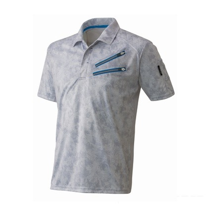 Thetough ベンチレーション半袖ポロシャツ ペイントホワイト L 152-15 半袖ポロシャツ 襟ワイヤー 吸汗速乾