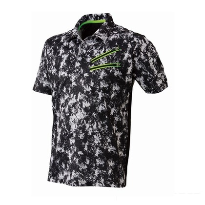 Thetough ベンチレーション半袖ポロシャツ ペイントブラック 3L 152-15 半袖ポロシャツ 襟ワイヤー 吸汗速乾