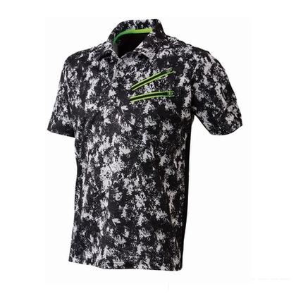 Thetough ベンチレーション半袖ポロシャツ ペイントブラック 5L 152-15 半袖ポロシャツ 襟ワイヤー 吸汗速乾