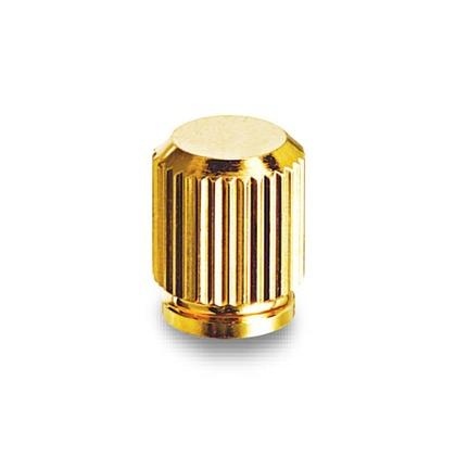 装飾ナット 段付きローレット(M3)金メッキ   NBNT-310TG