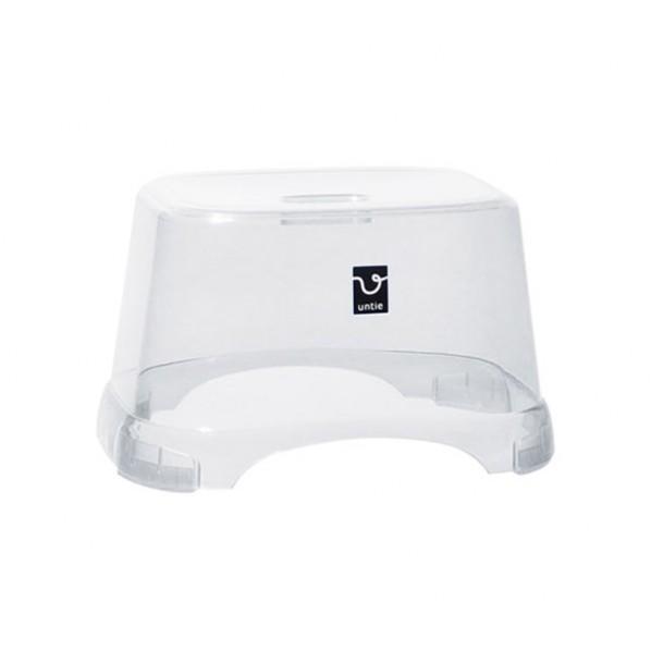 アンティクリスタル 風呂椅子角 CL クリア 215×350×248mm  浴用品