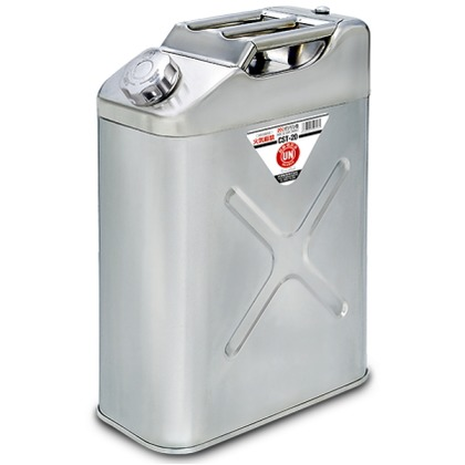 【送料無料】YAZAWA ステンレスガソリンカン 20L CST20 ガソリン携帯缶・ガソリン携行缶