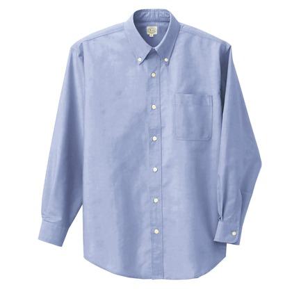 アイトス 長袖T/Cオックスボタンダウンシャツ(男女兼用) 007サックス 3S 7822-007-3S