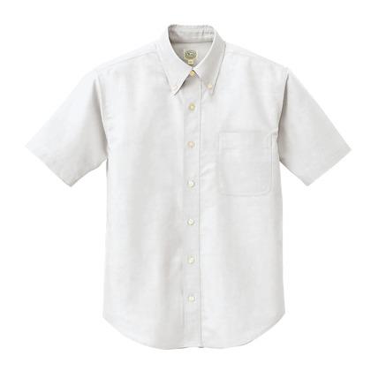 アイトス 半袖T/Cオックスボタンダウンシャツ(男女兼用) 001ホワイト LL 7823-001-LL