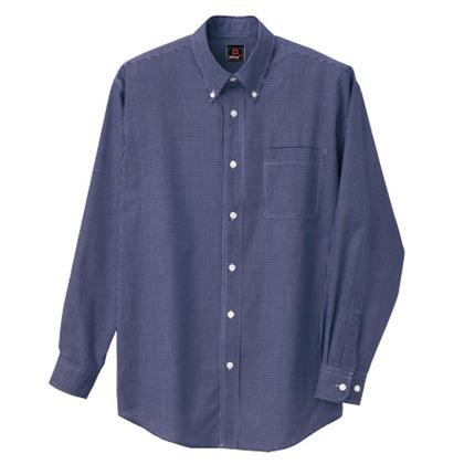 アイトス 長袖ギンガムチェックボタンダウンシャツ(男女兼用) 008ネイビー M 7824-008-M