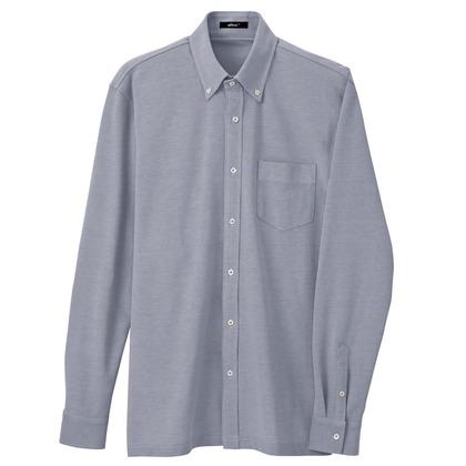 アイトス 長袖ニットボタンダウンシャツ(男女兼用) 008ネイビー S 7853-008-S