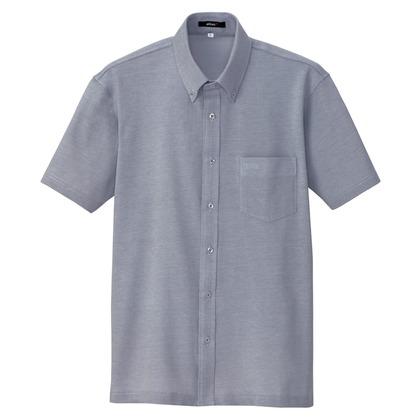 アイトス 半袖ニットボタンダウンシャツ(男女兼用) 008ネイビー LL 7854-008-LL