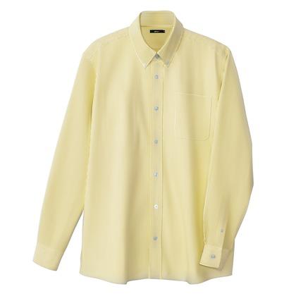 アイトス メンズ長袖オックスボタンダウンシャツ 119イエローストライプ 5L 7870-119-5L