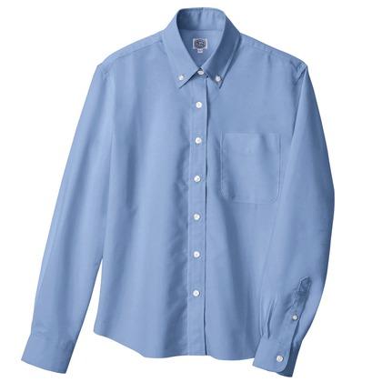 アイトス レディース長袖オックスボタンダウンシャツ 007サックス 4L 7871-007-4L