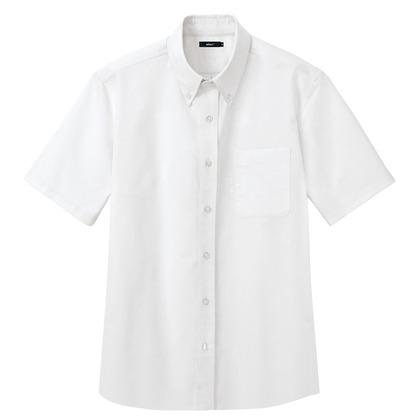 アイトス メンズ半袖オックスボタンダウンシャツ 001ホワイト L 7872-001-L