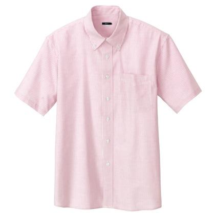アイトス メンズ半袖オックスボタンダウンシャツ 160ピンクストライプ 3L 7872-160-3L