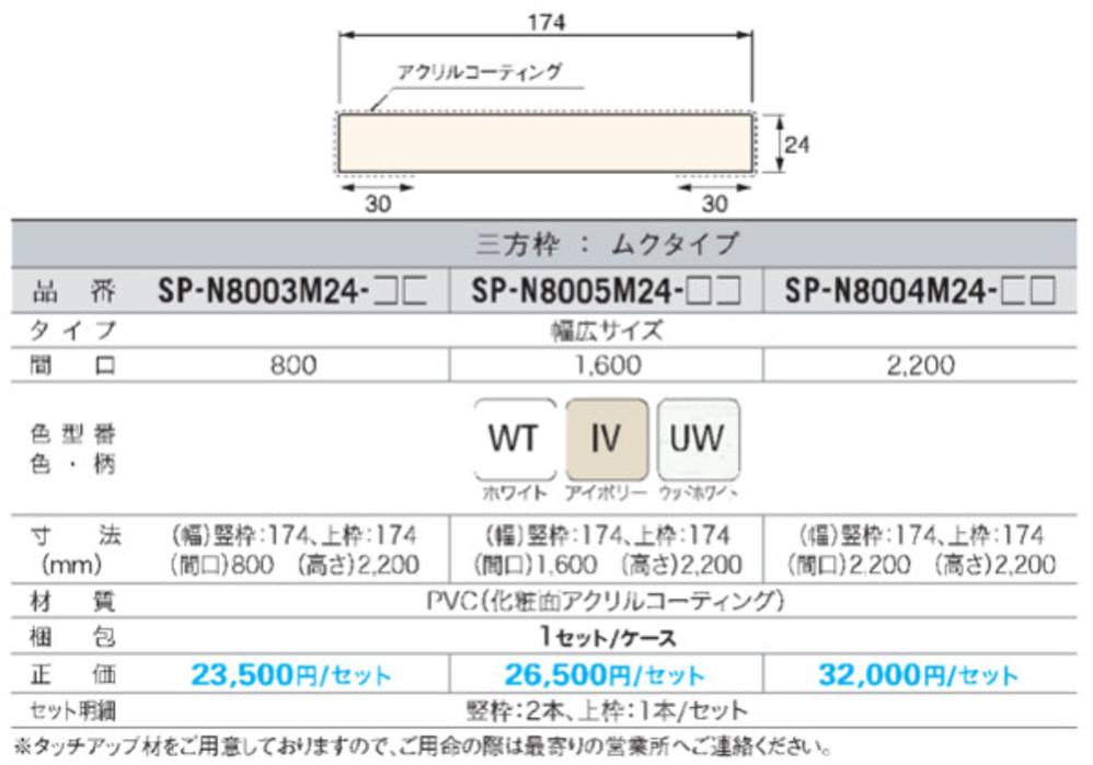 樹脂製ドア枠(三方枠セット/ムクタイプ)