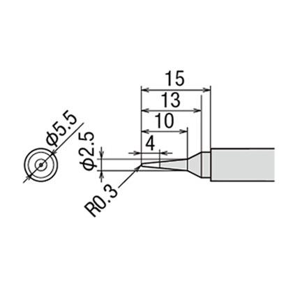 グット替こて先SB型PX2/SVS用   PX-2RT-SB