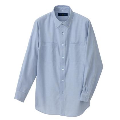 アイトス 長袖ボタンダウンシャツ(コードレーン)(男女兼用) 007サックス S 50401-007-S