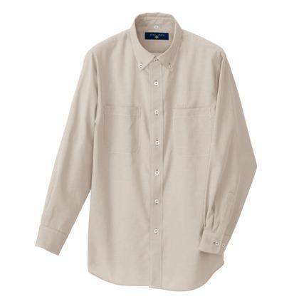 アイトス 長袖ボタンダウンシャツ(コードレーン)(男女兼用) 122モカ 5L 50401-122-5L