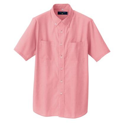 アイトス 半袖ボタンダウンシャツ(コードレーン)(男女兼用) 009レッド M 50402-009-M