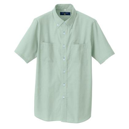 アイトス 半袖ボタンダウンシャツ(コードレーン)(男女兼用) 015グリーン S 50402-015-S