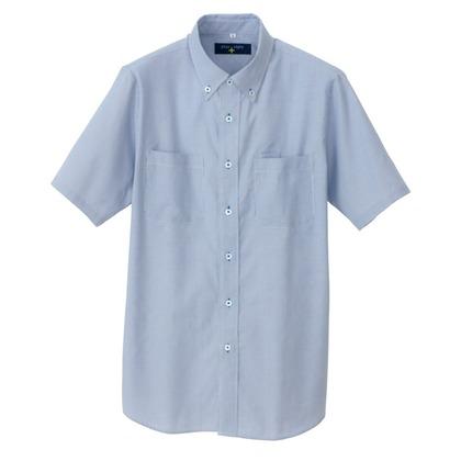 アイトス 半袖ボタンダウンシャツ(コードレーン)(男女兼用) 107サックス 3L 50402-107-3L