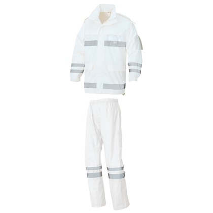 レインウエア(FS-6000) 001ホワイト LL 562403-001-LL