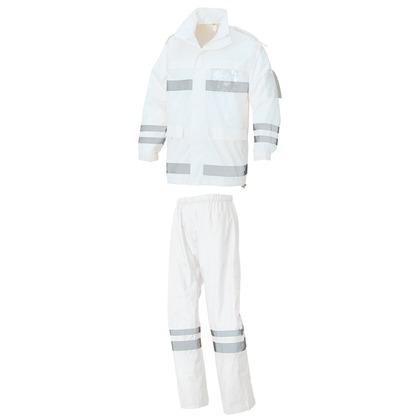 レインウエア(FS-6000) 001ホワイト 5L 562403-001-5L