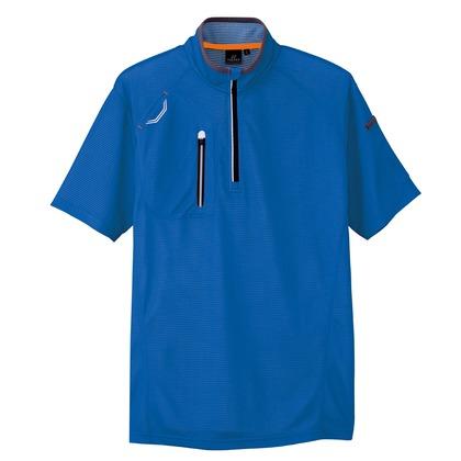 半袖ハーフZIPシャツ(男女兼用) 006ロイヤルネイビー L 10607-006-L