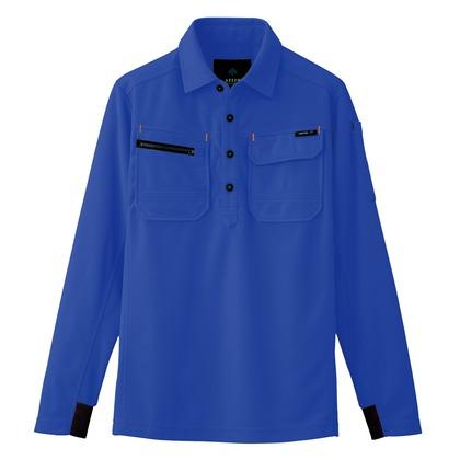 長袖ポロシャツ(男女兼用) 006ロイヤルブルー L 10608-006-L