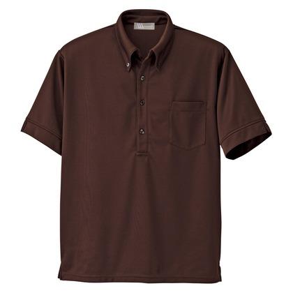アイトス メンズ半袖ニットボタンダウンシャツ 022ブラウン 3L 861206-022-3L