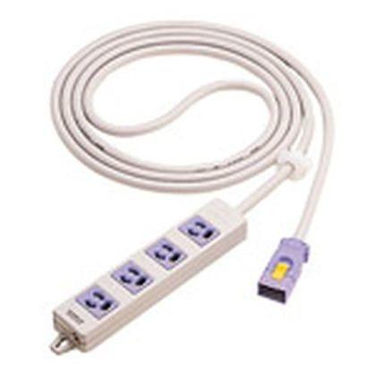 ハーネス用OAタップ4個口(接地2P抜け止め電源表示ランプ付)パープル   WFA66347V