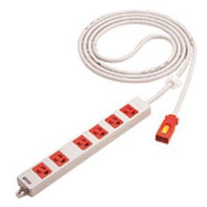 ハーネス用OAタップ抜止(電源表示ランプ付)5m(レッド)   WFA66567R