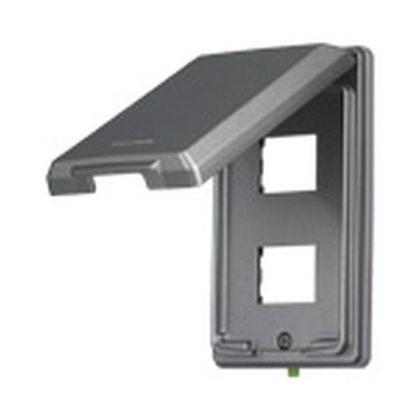 パナソニック フルカラー金属防滴プレート2コ用 WN7802K 住宅・配線・電設資材