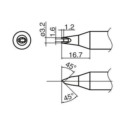 こて先 溝付   T33-1611 10