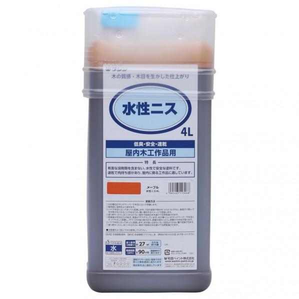 【送料無料】和信ペイント 水性ニス メープル 4L 911302
