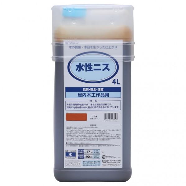 【送料無料】和信ペイント 水性ニス けやき 4L 911306