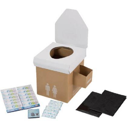 【送料無料】KAKURI 緊急用簡易トイレセットTPS−80 4493 1S