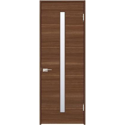 住友林業クレスト 内装ドア スリット1枚ガラス横目 ベリッシュウォルナット柄 枠外W872mm×枠外H2300mm DBACK03SUA78JS4AL 内装建具 1セット