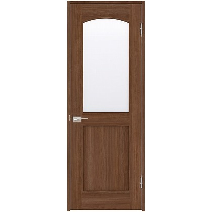 住友林業クレスト 内装ドア アールガラス ベリッシュウォルナット柄 枠外W755mm×枠外H2032mm DBACK27SU747JS4AR 内装建具 1セット