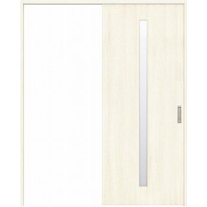住友林業クレスト 引き戸 スリット1枚ガラス縦目 ベリッシュホワイト柄 枠外W1463×枠外H2032 HBATK02HAWC47J1S3L 内装建具 1セット
